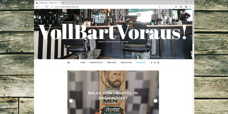 VollbartVoraus News - Webseite online